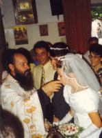 Drinken van wijn in de Griekse kerk