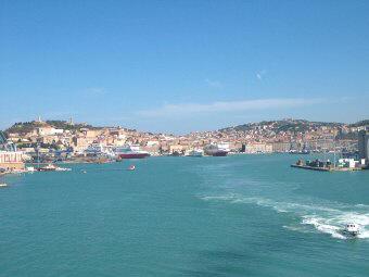 De haven van Ancona, Italie