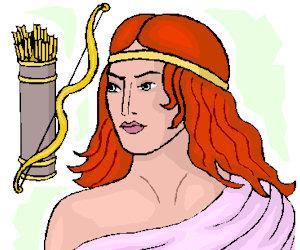 Artemis Griekse godin van de jacht