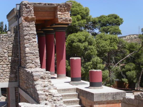 Knossos. Foto gemaakt door P. Kesselaar