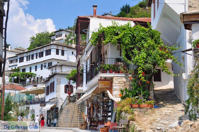 et dorp Makrinitsa in Pilion
