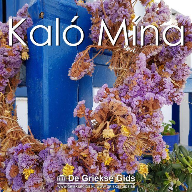 Kalo Mina bloemenkrans