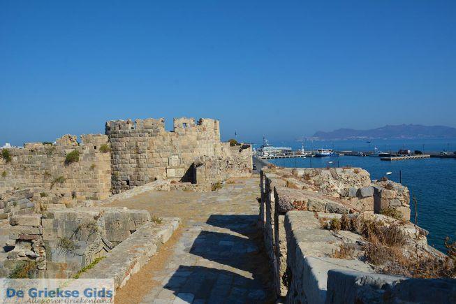 Fort bij de haven van Kos stad