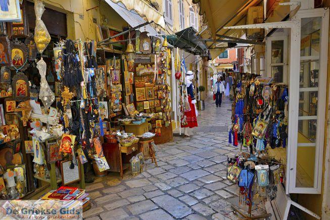 Winkels in Corfu Griekenland