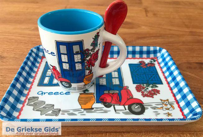 Koffiekopje Griekenland souvenir