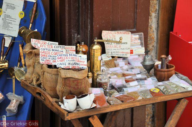 Griekse koffie en kruiden