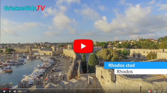 Rhodos stad luchtvideo