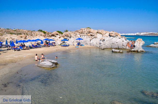 Kolimbithres beach bij Naoussa op Paros