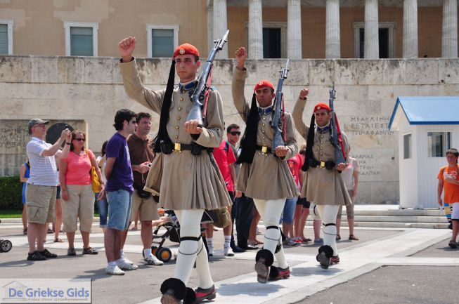 Grieks Parlement Athene Evzone