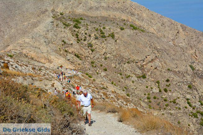 Wandeling naar Oud-Thira op Santorini