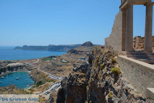 Uitzicht vanaf Lindos Akropolis