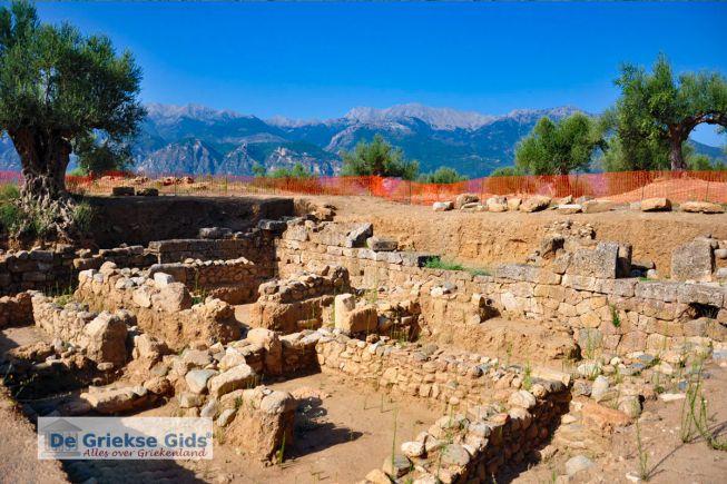 Oud-Sparta, op de achtergrond het Taygetos gebergte