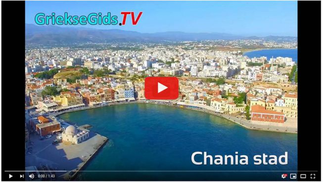 Drone video Chania Stad