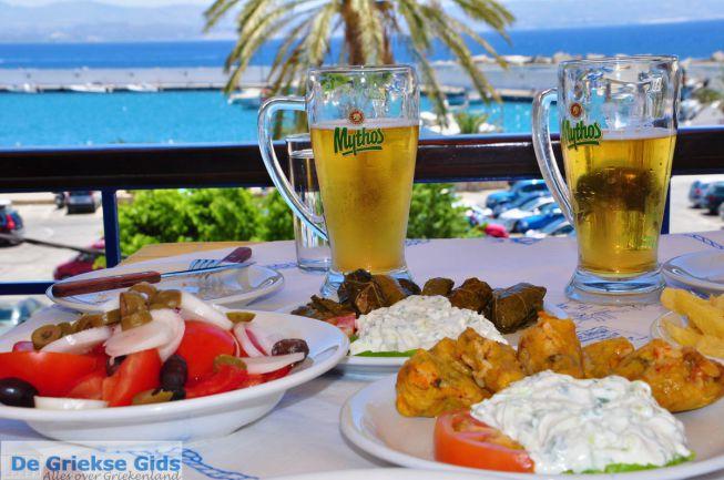 Agia Galini eten en drinken in de haven