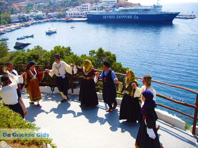 Traditionele dans op Skyros