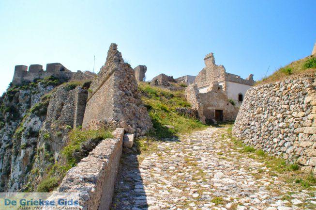 Kythira-stad Chora kasteel en kerk