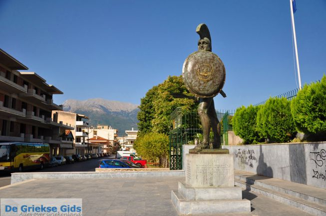Standbeeld Leonidas in Sparta