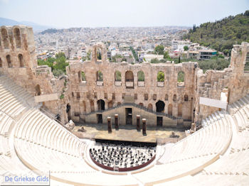 Herodes Atticus Theater nabij Akropolis Athene foto 3 - Foto van De Griekse Gids