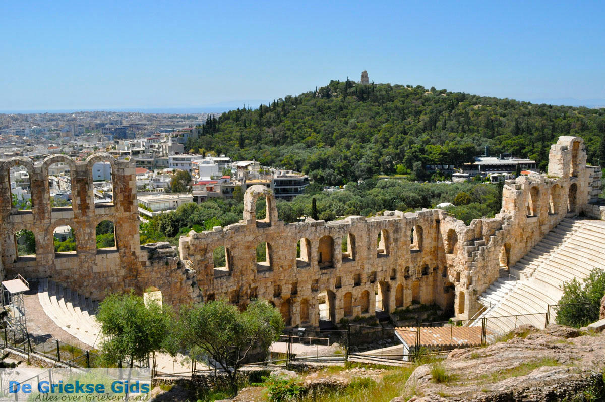 foto Herodes Atticus Theater, aan de overkant Philopapou | Athene foto 1
