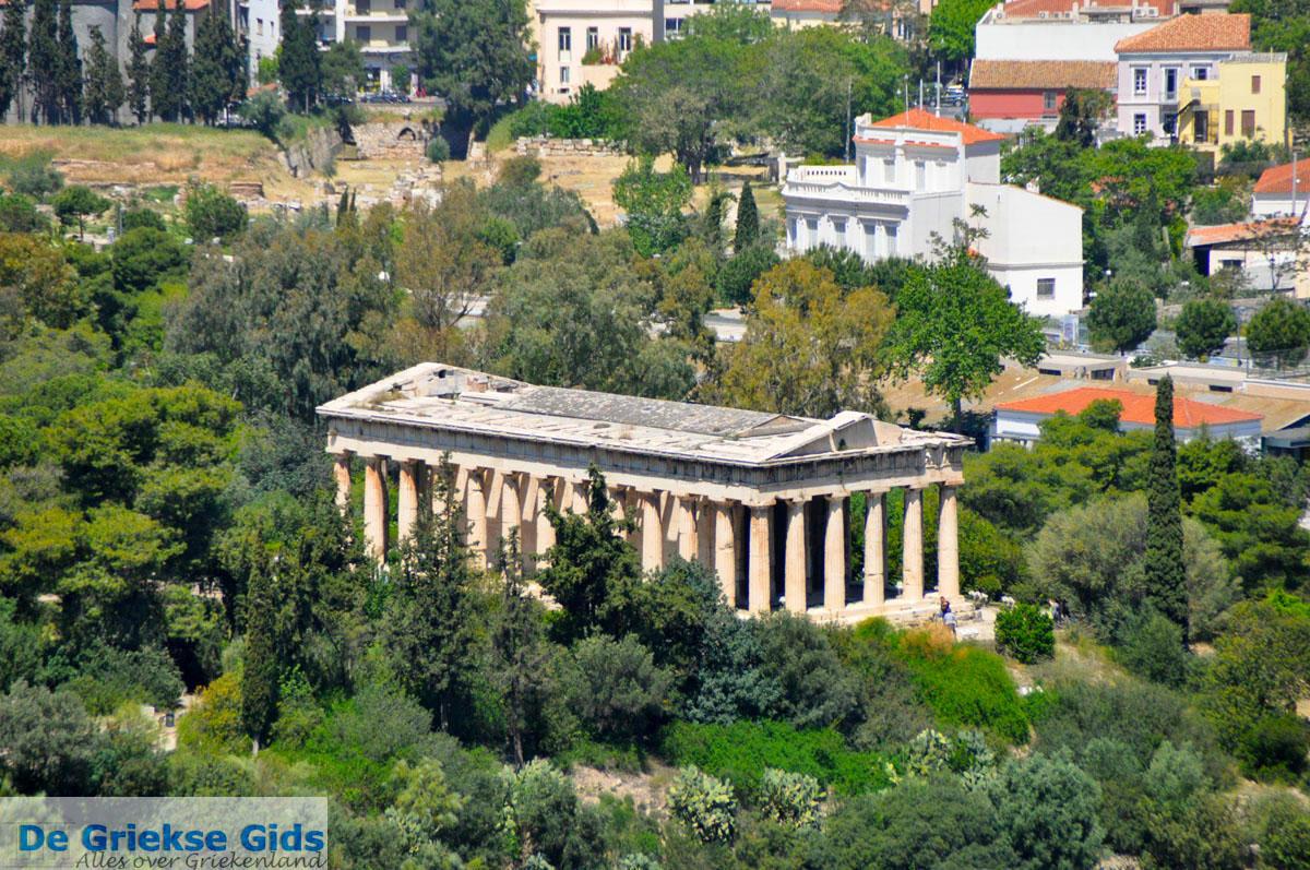 foto Theseion gezien vanaf de Akropolis in Athene | Attica | De Griekse Gids