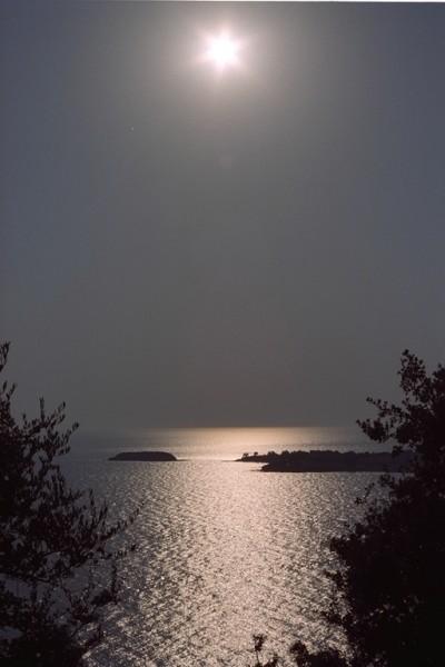 Kassandra, ondergaande zon.Gemaakt door Wim Wight uit Gorinchem.