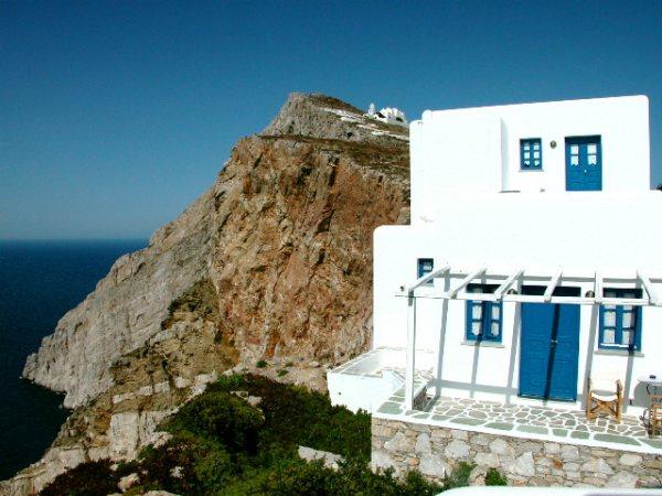 Cycladisch huisje Folegandros Foto van Peter-Paul de Rijcker.