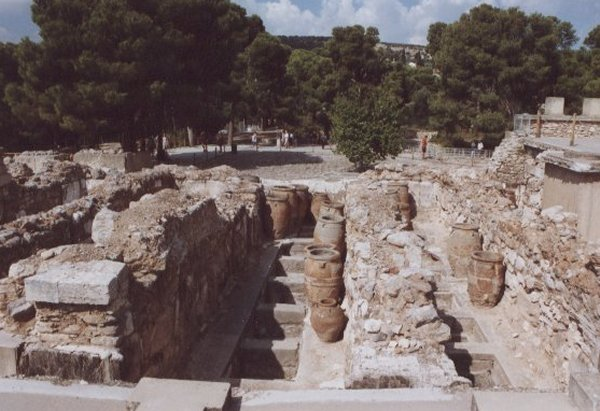 Knossos, Kreta. Foto van Jenny Brenard.