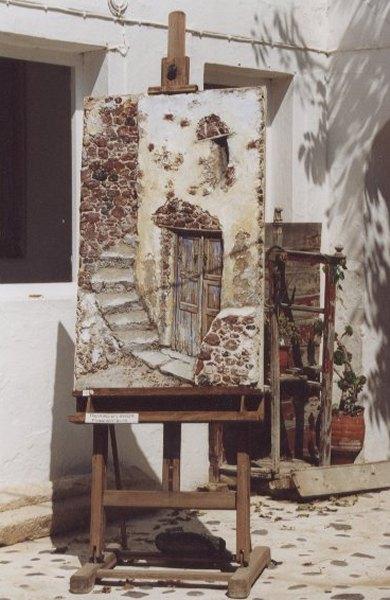 Santorini schilderij -  Foto van Jenny Brenard