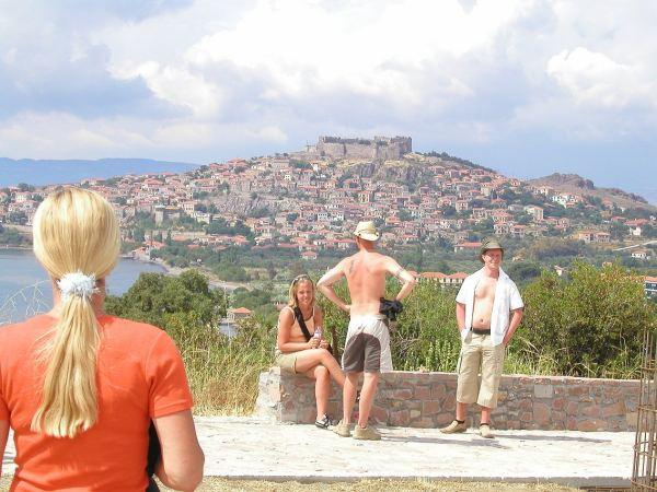 Uitzicht op Molyvos, Lesbos.  Foto van Ynske Torenstra