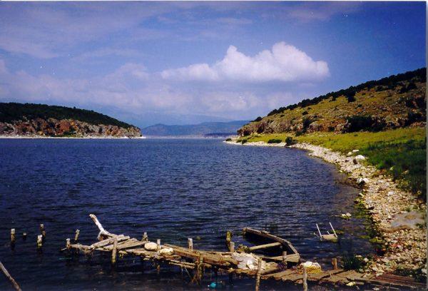 Het meer van Prespa. P. Veldema.