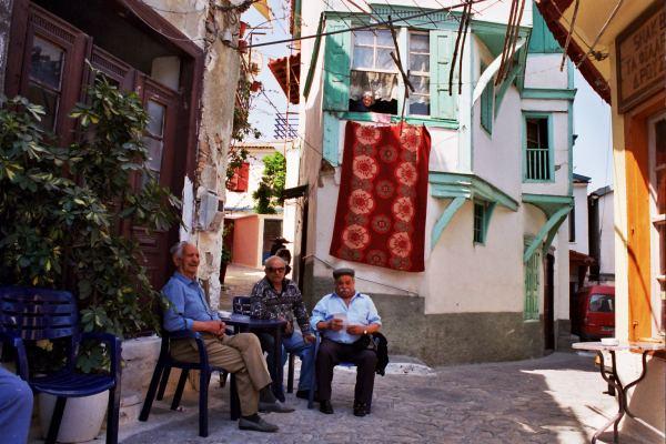Oudere mannen Samos. Foto van Paul Jansen.