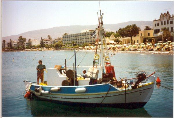 Vissersboot Kos-stad
