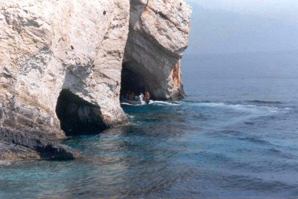blauwe grotten Zakynthos. Foto van D. Kop