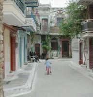 Steegje Pirgi Chios - Foto van Xavs
