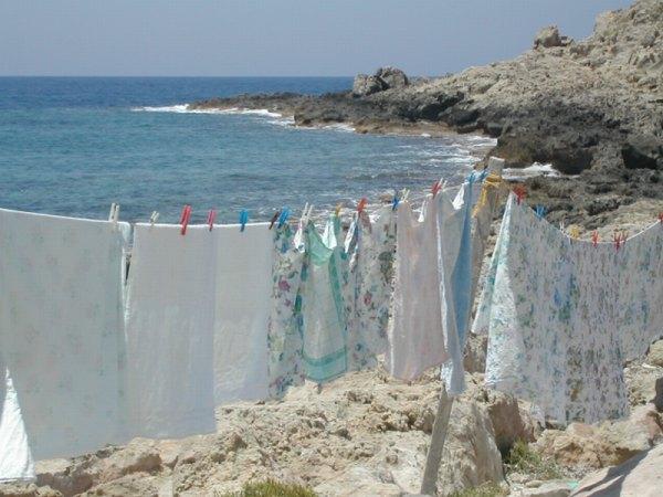 Een foto genomen in het vissersplaatsje Levkas op het eiland Kárpathos in mei 2002.Foto: Annie Spijker