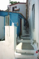 Karakteristiek huisje Kokkari Samos - Foto van Renee Mof