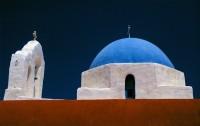 kleurrijke daken van Griekse kapellen - Foto van Danny Verhasselt