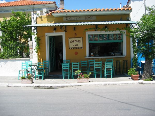 Cafe Creperie op Samos