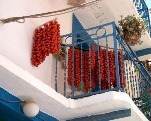 Drogende tomaatjes Pyrgi Chios