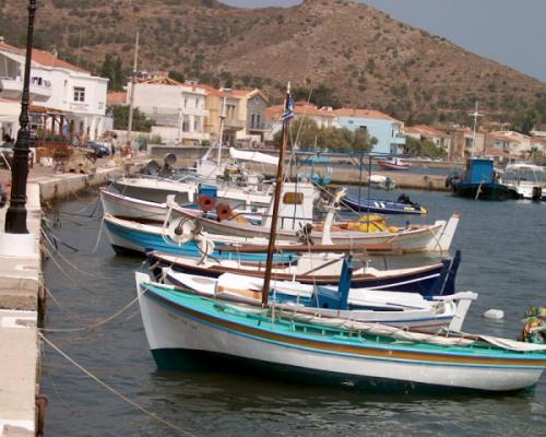 Vissersbootje Kardamyla Chios