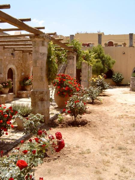 Tuin van Moni Arkadiou op Kreta