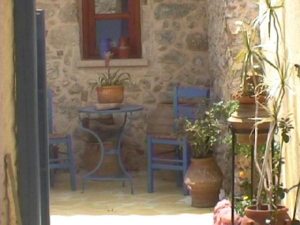 Gezellige binnenplaats Kreta