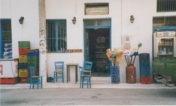 Typisch Grieks straadbeeld Koroni Peloponnesos