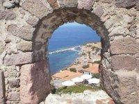 Molyvos vanuit het kasteel - Foto van Brig