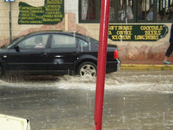 Hevige regen op Kreta