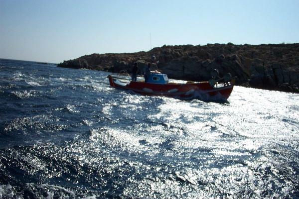 Vissersboot Mykonos