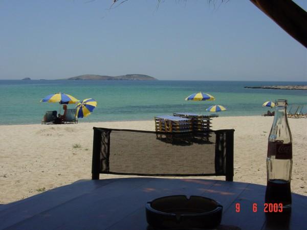 Cola aan het strand van Thassos Griekenland