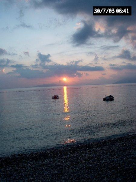 Zonsondergang Palea Epidavros in Argolis