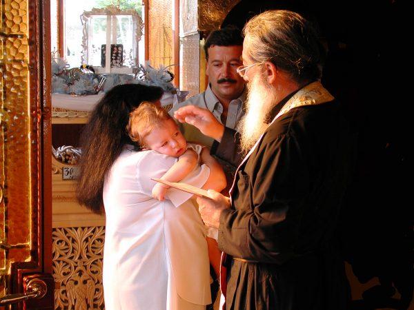 Grieks-orthodoxe doop op Aegina