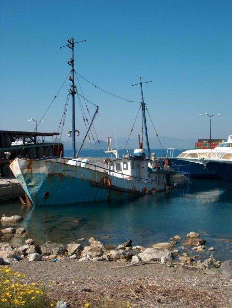 Kos, oud vissersbootje